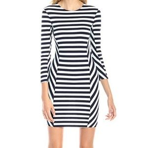 French Connection Striped Bodycon Dress NWOT